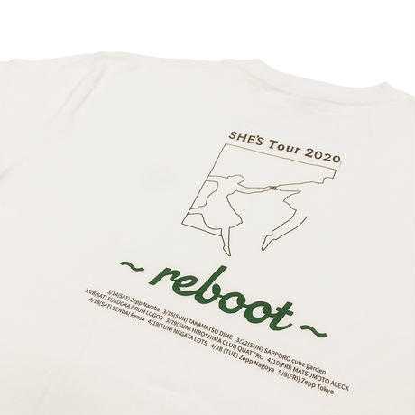 "reboot Tour ""Hang Out"" Tシャツ(バニラホワイト)"