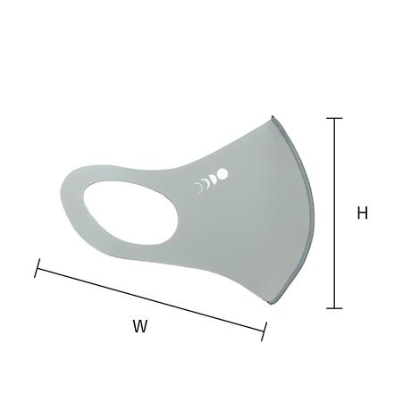 ロゴ エチケットマスク(ライトグレー)