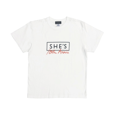 SHE'S 10th Anniversary Tシャツ(ホワイト)
