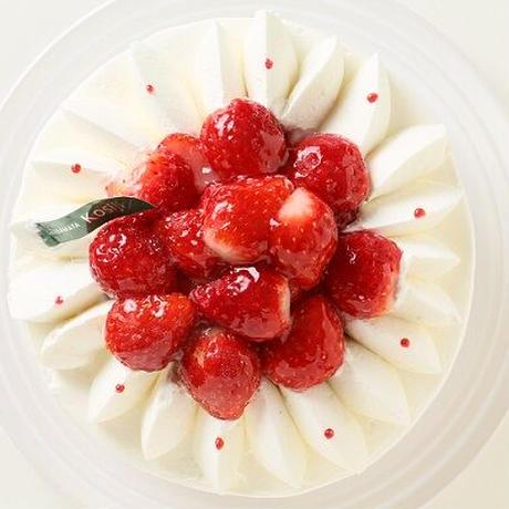 【全国発送】生クリームたっぷりな苺のデコレーション 5号 15cm