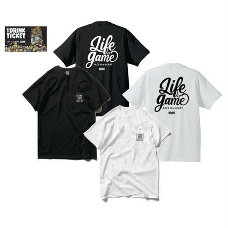 THE GAME T-shirts(B) White or Black+ドリンクチケット1枚 SET