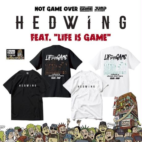 HEDWiNG  T-shirts White or Black+ドリンクチケット1枚 SET