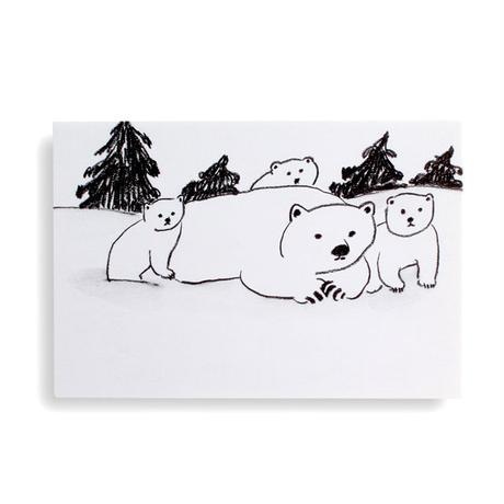 ポストカード「シロクマ親子」