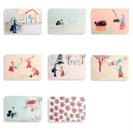 「シニッカさんどうしたの?」ポストカード8枚組