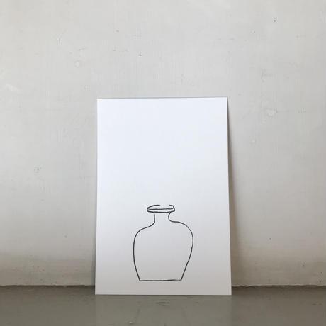 YOKO ANDERSSON YAMANO &PAPIER LABO.<GLASS BOTTLE CARD>