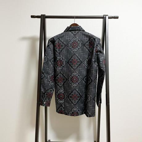 【大島紬龍郷柄】アロハシャツ(長袖)
