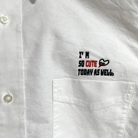 【CUTE刺繍】オックスフォードシャツ