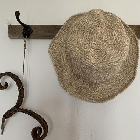 麻帽子(模様編み)