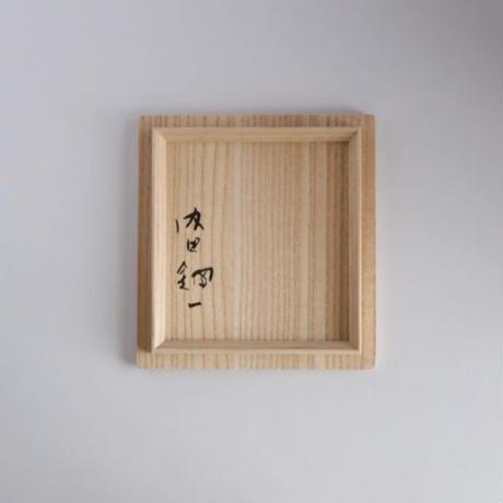 内田鋼一・白金彩線刻文茶盌