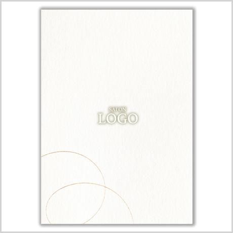 【二つ折りメッセージカード】リボン
