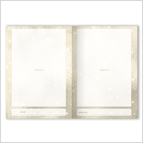 【二つ折りメッセージカード】スパークリング