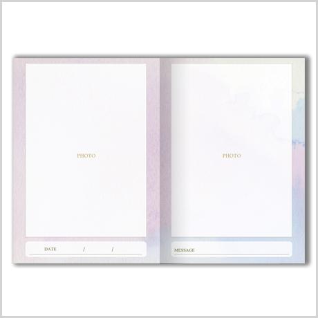 【二つ折りメッセージカード】アンティークローズ