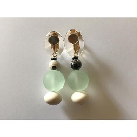 ● beads___assembly 13  pierced earrings