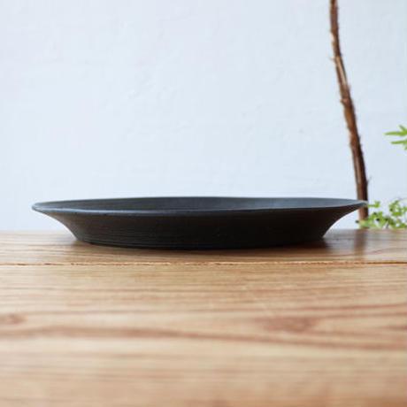 リム皿(8寸)ブラック