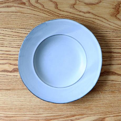 N▶400(エヌ・ヨンヒャク)  深リム皿 ライトブルー