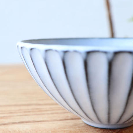 N▶400(エヌ・ヨンヒャク)  しのぎ飯碗(小)ライトブルー