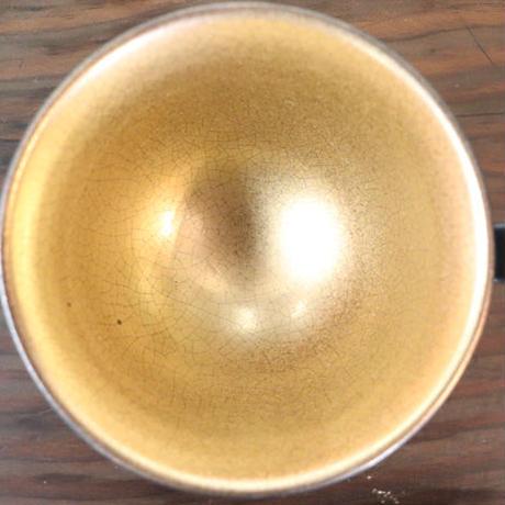 凛花カップ&ソーサー ゴールド×ブラック