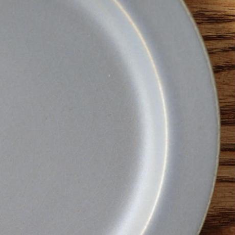 N▶400(エヌ・ヨンヒャク)  リム皿 6寸 グレー