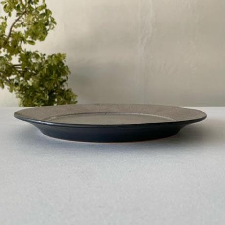リム皿8寸 シルバー