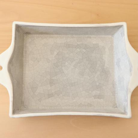 角皿 モザイクシルバー