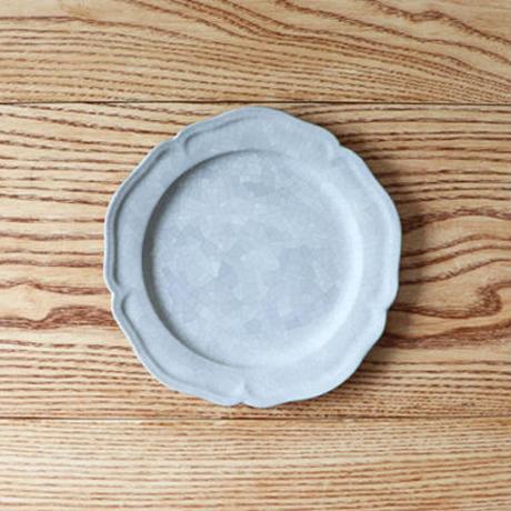 ピューター皿(6寸)モザイクシルバー