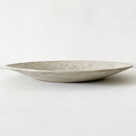 リム皿9寸 モザイクシルバー