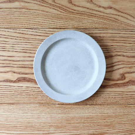 リム皿(6寸)モザイクシルバー