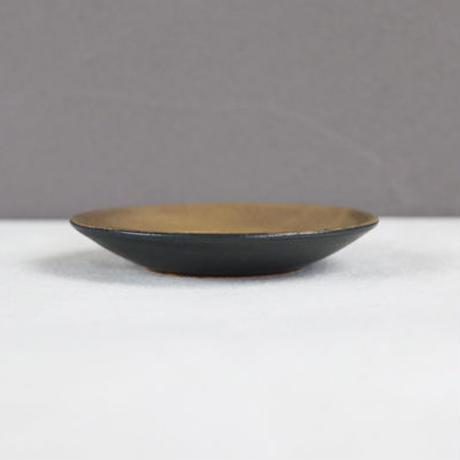 リム小皿 ゴールド