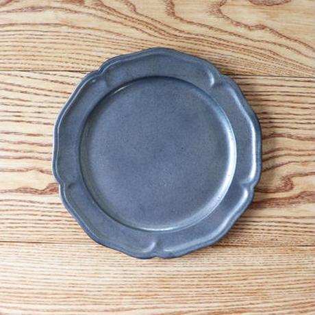 ピューター皿(8寸)シルバー