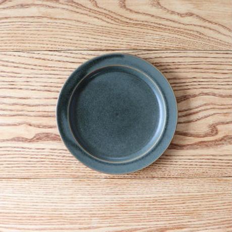 N▶400(エヌ・ヨンヒャク)  リム皿 6寸 グリーン