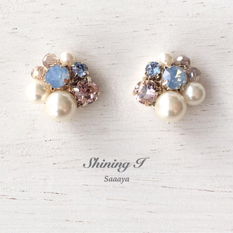 春夏数量限定 Mix stone *P×B / Earrings