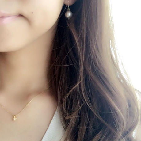 【14kgf】Favorite things -square zirconia- / Necklace