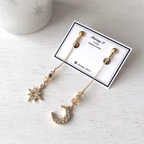 選べる金具 ★ Sparkling *Orange gold / Earrings