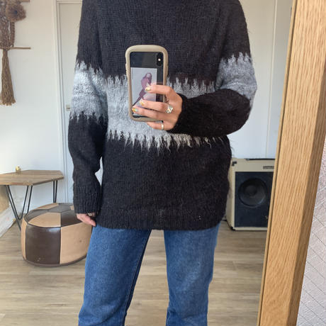brown mohair knit【古着】