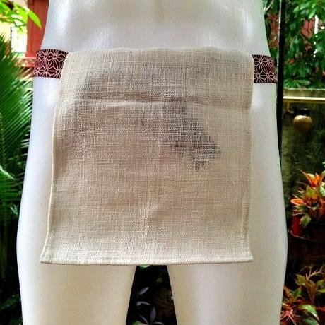 忍ふんどし New チェンマイ手織綿白01 ShiNoBi Samurai Under Wear Homespun Cotton White01