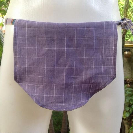 忍ふんどし女子 旅旅バージョン 亜麻すみれ ShiNoBibrand Samurai Under Wear Pure Linen Hemp Violet01