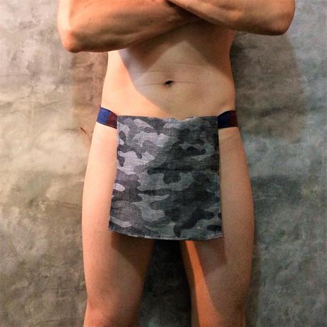 """ふんどし【麻蚕モノトーンソルジャー03】""""Asa-Gaiko Monotone Soldier03"""" 忍×Samurai Underwear (素材:麻絹/Hemp Silk)"""