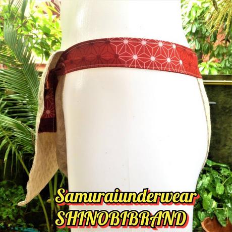 ふんどし【生成りヘンプ クロスライン01陰】ShiNoBi Samurai Under Wear Cross line Weave01(Pure linen hemp)