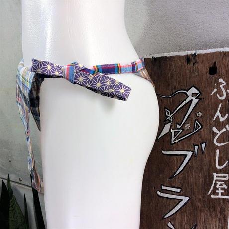 ふんどし女子【くノ一レインボー麻ロゴ】リネン01 ShiNoBi Samurai Underwear Kunoichi Rainbow Hemp Logo01