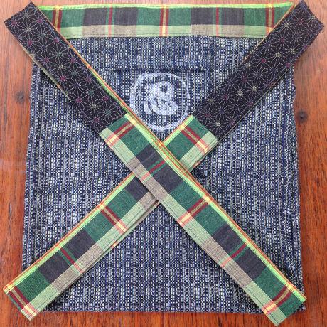 ふんどし【青ライン01】リネンヘンプ Shinobi Samurai Under Wear Blue(LinenHemp) chanel line pattern