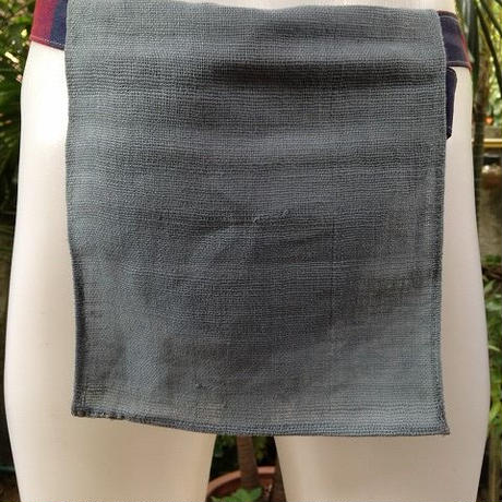 忍ふんどし手織綿グレイ ShiNoBi Samurai Under Wear Homespun Cotton Gray01