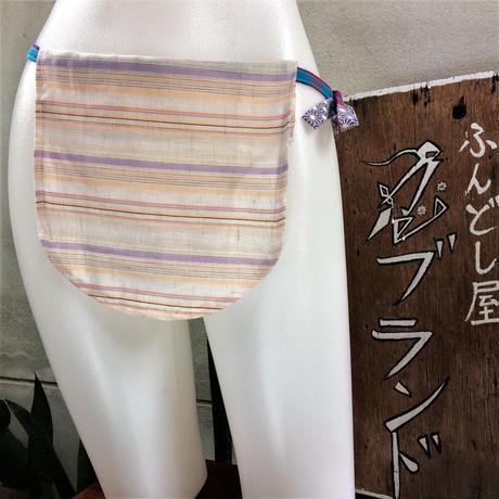 ふんどし女子【くノ一 パープルライン】綿+リネン01 ShiNoBi Samurai Underwear Kunoichi Purple Line Cotton& Linen01