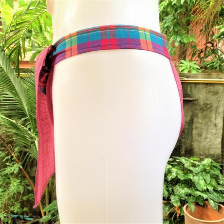 """ふんどし【アサ桜】 """"ASA-ZAKURA""""02 忍褌×Samurai Underwear (素材:ヘンプ+リネン)"""