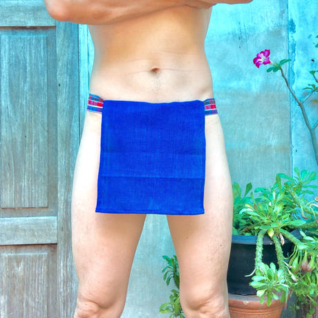 ふんどし【チェンマイ手織綿青】 ShiNoBi Samurai Under Wear Blue Homespun Cotton01
