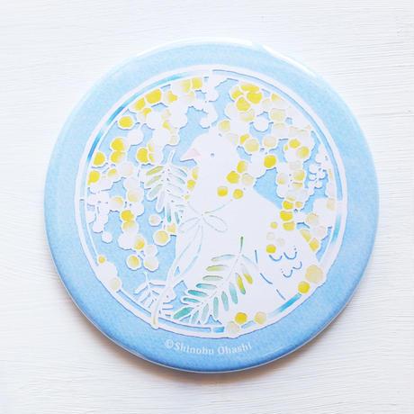 ミモザの切り絵の鏡