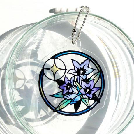 アクリルキーホルダー[リンドウの花]