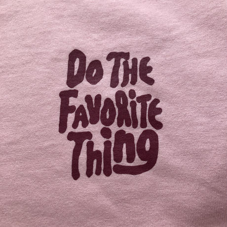 DO THE FAVORITE THING L/S TEE PINK