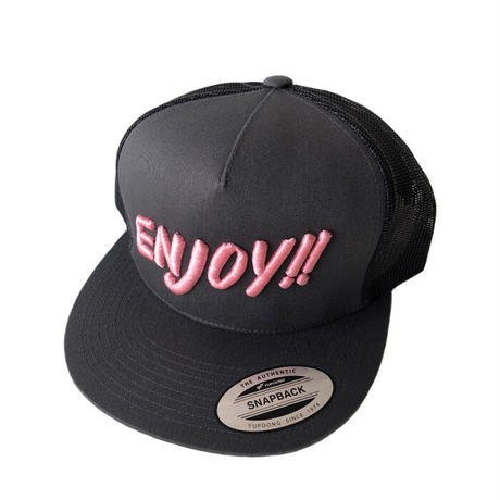 ENJOY!! MESH CAP GRAY