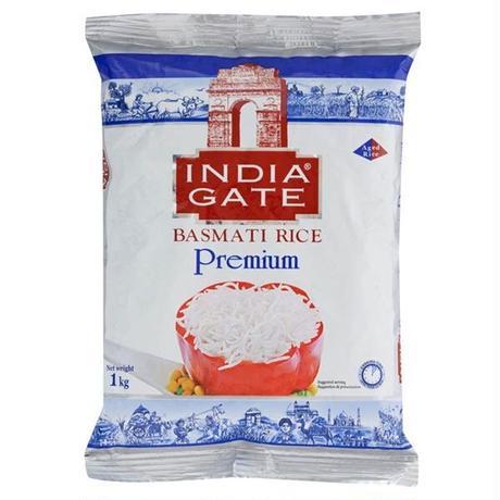 インド産 高級米 バスマティ ライス 【インディアンゲート プレミアム】BASMATI RICE 【INDIA GATE PREMIUM】 - 1kg