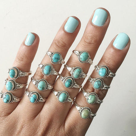 no.3 silver925×turquoise